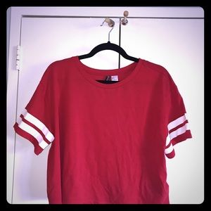 Sporty Red Crop Top
